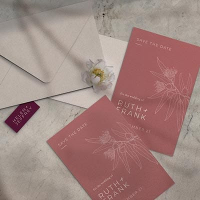 Save the date cards by felicitations wedding & event stationery perth