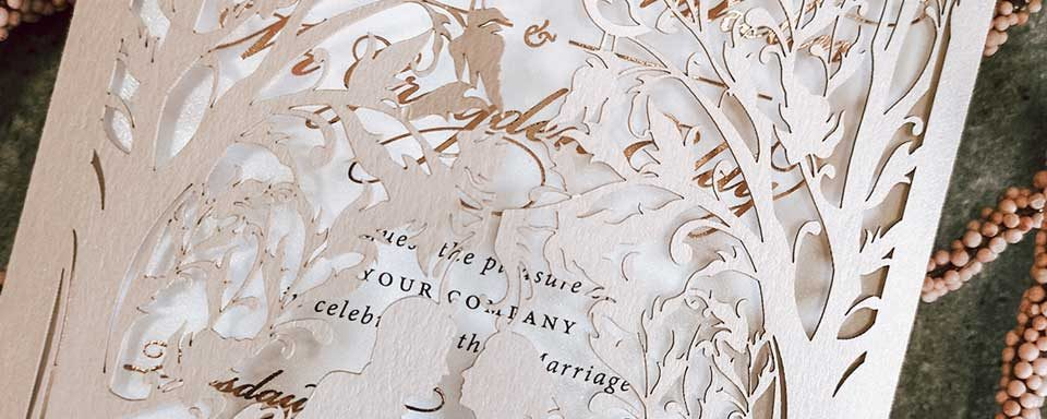Laser cut Invitations Perth